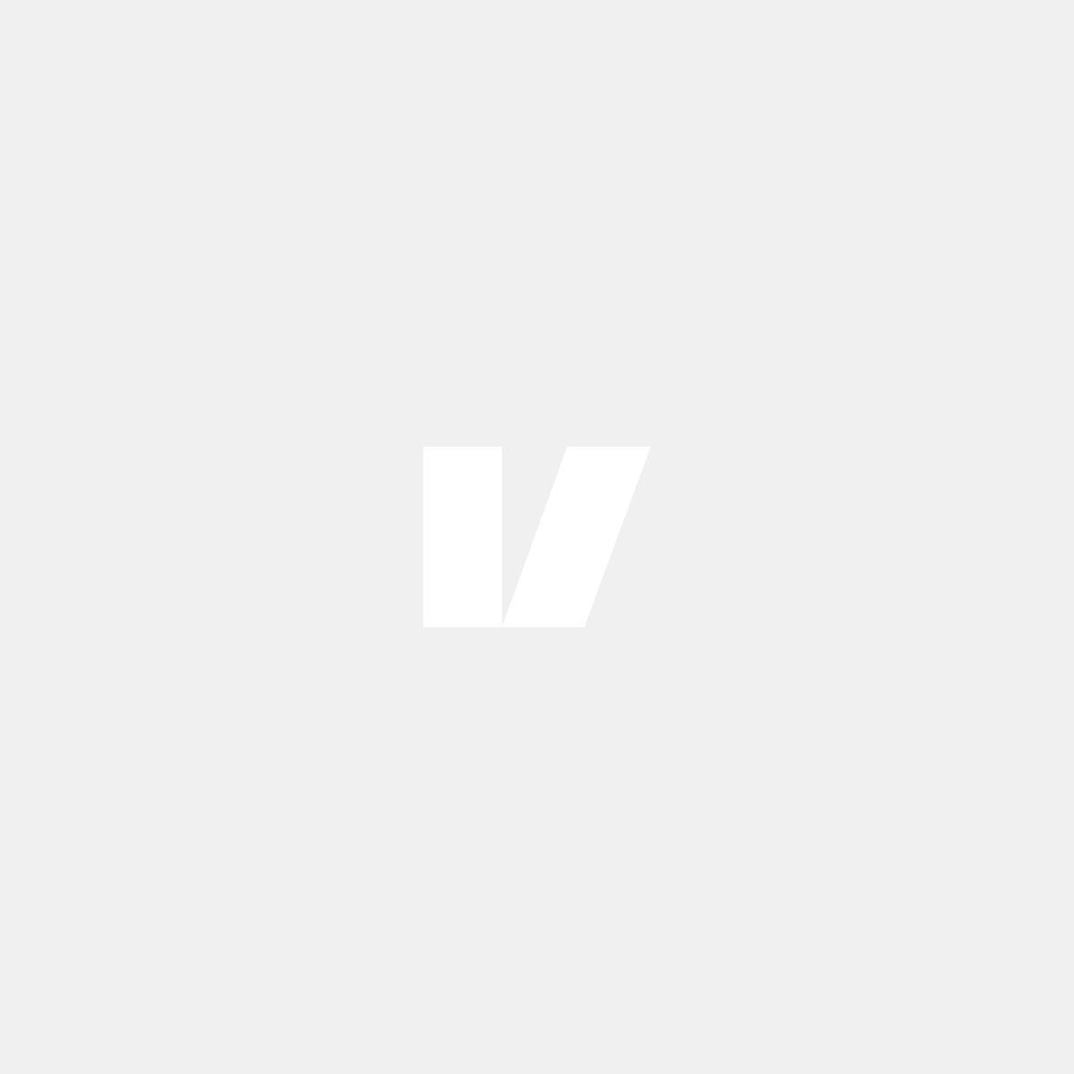 Blanksvart dimljusgaller till Volvo V70 08-13, förarsidan